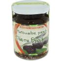 Ungesalzene Olivenpaste aus schwarzen Oliven, 145g Glas