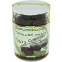 Olivenpaste aus schwarzen Oliven mit wenig Salz, 145g Glas