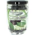 Schwarze ganze Oliven mit wenig Salz, 400g Glas